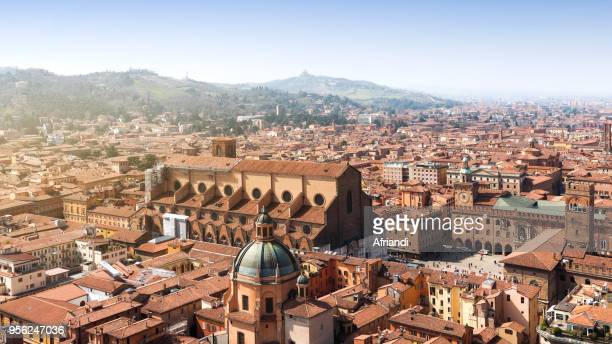 bologna cityscape, italy - bologna stock pictures, royalty-free photos & images