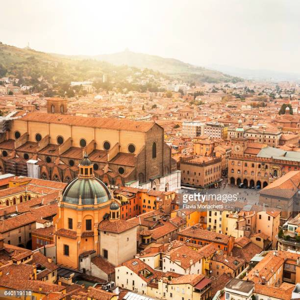 bologna cityscape - bologna stock pictures, royalty-free photos & images