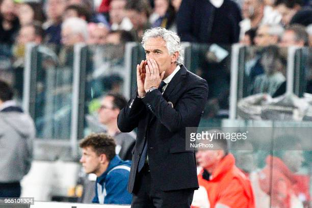 Bologna coach Roberto Donadoni during the Serie A football match n36 JUVENTUS BOLOGNA on at the Allianz Stadium in Turin Italy