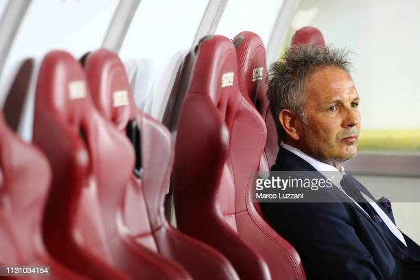 Bologna FC coach Sinisa Mihajlovic looks on before the Serie A match between Torino FC and Bologna FC at Stadio Olimpico di Torino on March 16 2019...