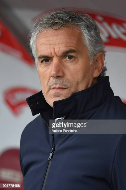Bologna FC head coach Roberto Donadoni looks on during the serie A match between Torino FC and Bologna FC at Stadio Olimpico di Torino on January 6...