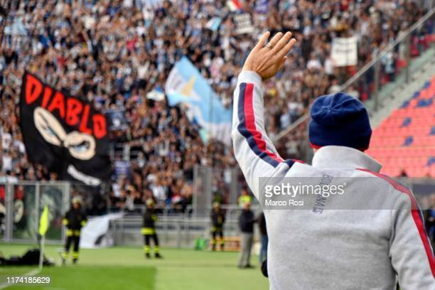 Bologna FC head coach Sinisa Mihajlovic during the Serie A match between Bologna FC and SS Lazio at Stadio Renato Dall'Ara on October 6 2019 in...