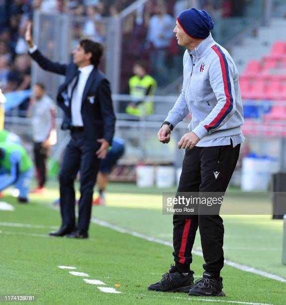 Bologna head coach Sinisa Mihajlovic during the Serie A match between Bologna FC and SS Lazio at Stadio Renato Dall'Ara on October 6, 2019 in...
