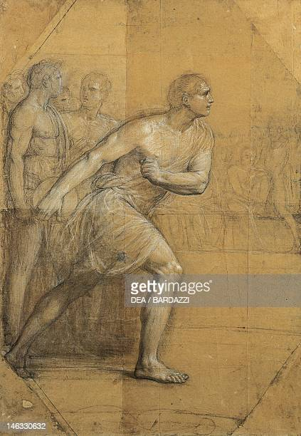 Bologna Pinacoteca Nazionale Di Bologna The discus thrower by Andrea Appiani drawing