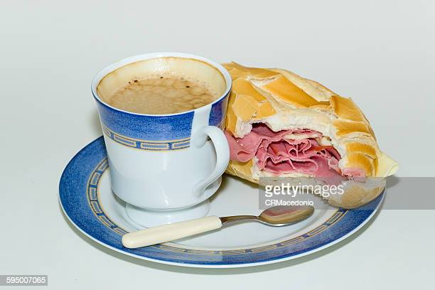 bologna sandwich bitten. - crmacedonio stock pictures, royalty-free photos & images