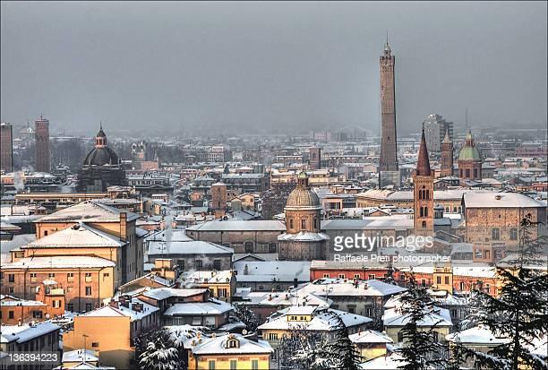 Bologna-scene with snow