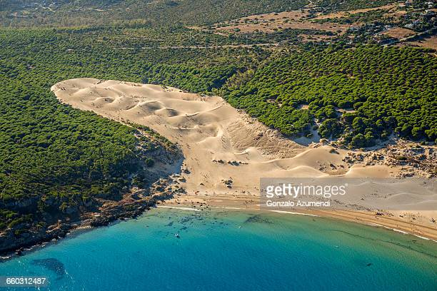 bolonia dune in tarifa - cádiz stock pictures, royalty-free photos & images