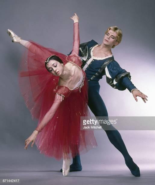 Bolshoi Ballet dancers Nina Anaiashvili and Andris Liepa photographed in 1987