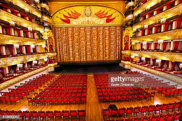Bolshoi Ballet Theater Auditorium on September 22 2011 at Moscow Russia