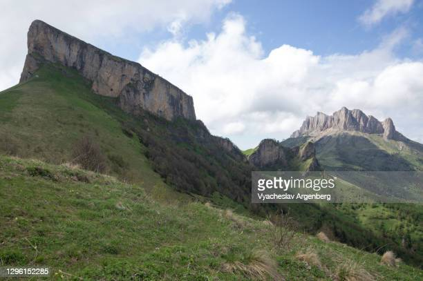 bolshoy and maly tkhach, adygea, western caucasus - argenberg stock pictures, royalty-free photos & images