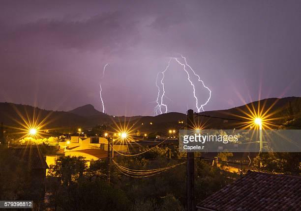 Bolt in thunderstorm