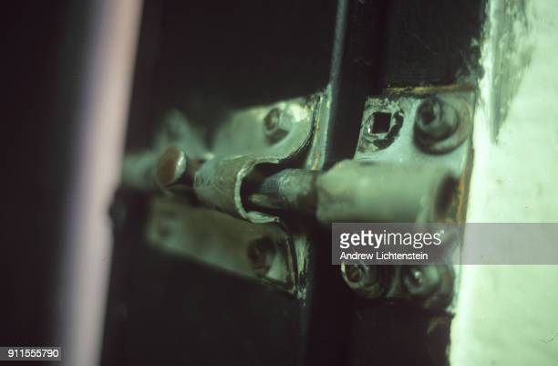 A bolt lock secures an interior door in June 2000 at the Coffield Unit a Texas state prison built in rural Anderson County Texas