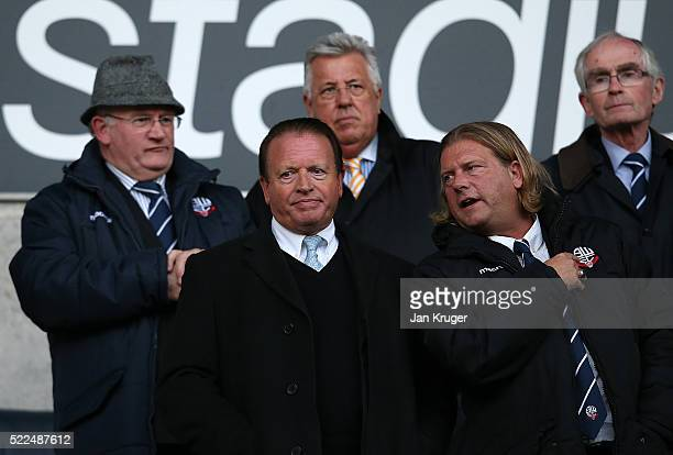 Bolton Chairman Ken Anderson looks on during the Sky Bet Championship match between Bolton Wanderers and Charlton Athletic at Reebok Stadium on April...