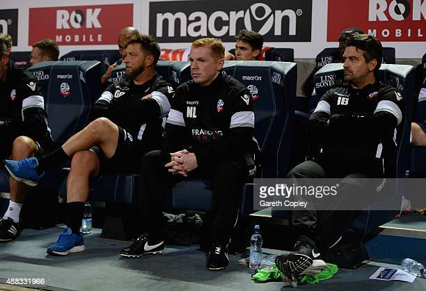 Bolton manager Neil Lennon takes his seat ahead of the Sky Bet Championship match between Bolton Wanderers and Sheffield Wednesday at Reebok Stadium...