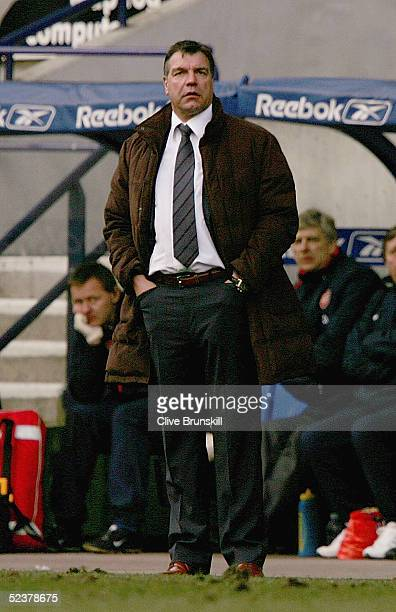 Bolton manager Sam Allardyce during the FA Cup Quarter Final between Bolton Wanderers and Arsenal at The Reebok Stadium on March 12 2005 in Bolton...