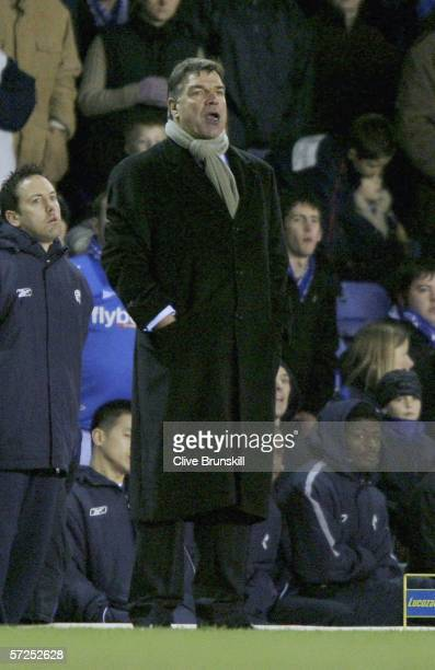 Bolton manager Sam Allardyce looks on during the Barclays Premiership match between Birmingham City and Bolton Wanderers at St Andrews on April 4...