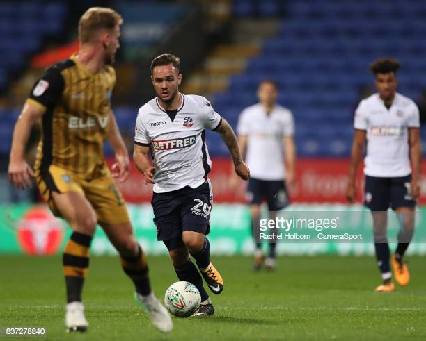 Bolton Wanderers' Adam Armstrong during the Carabao Cup Second Round match between Bolton Wanderers and Sheffield Wednesday at Reebok Stadium on...