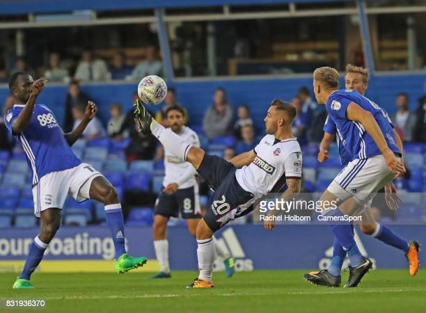 Bolton Wanderers' Adam Armstrong during the Sky Bet Championship match between Birmingham City and Bolton Wanderers at St Andrews Stadium on August...
