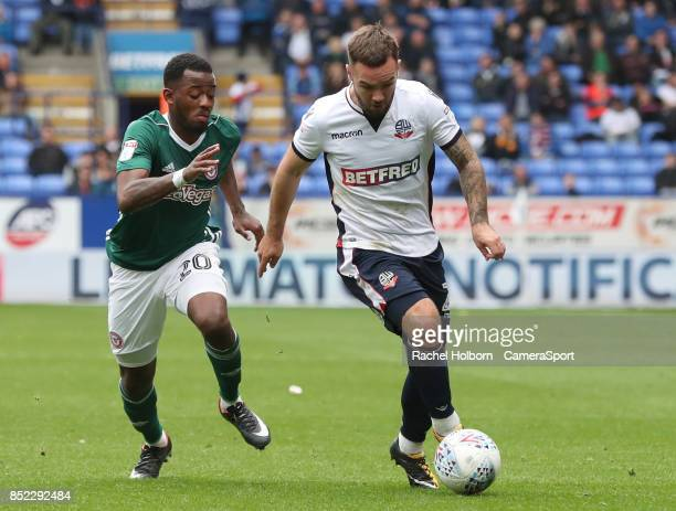 Bolton Wanderers' Adam Armstrong during the Sky Bet Championship match between Bolton Wanderers and Brentford at Macron Stadium on September 23 2017...