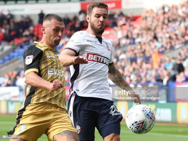 Bolton Wanderers' Adam Armstrong during the Sky Bet Championship match between Bolton Wanderers and Sheffield Wednesday at Macron Stadium on October...