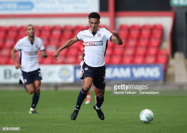 Bolton Wanderers Antonee Robinson during the Carabao Cup First Round match between Crewe Alexandra and Bolton Wanderers at The Alexandra Stadium on...