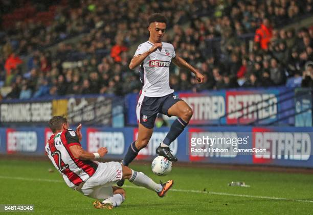 Bolton Wanderers' Antonee Robinson during the Sky Bet Championship match between Bolton Wanderers and Sheffield United at Macron Stadium on September...