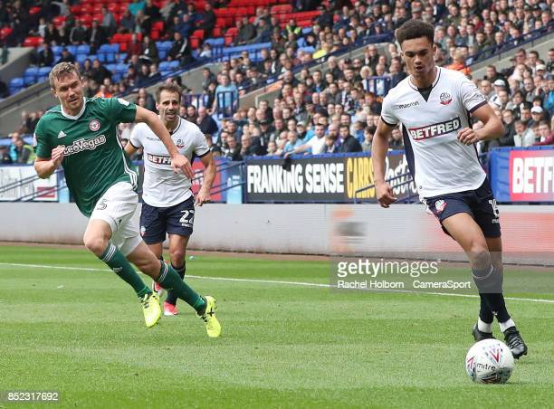 Bolton Wanderers' Antonee Robinson during the Sky Bet Championship match between Bolton Wanderers and Brentford at Macron Stadium on September 23...