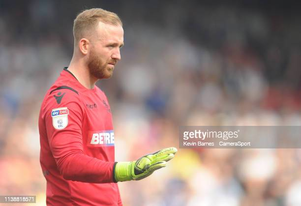 Bolton Wanderers' Ben Alnwick during the Sky Bet Championship match between Blackburn Rovers and Bolton Wanderers at Ewood Park on April 22 2019 in...