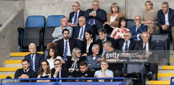 Bolton Wanderers' chairman Sharon Brittan looks on from the directors box during the Sky Bet League One match between Bolton Wanderers and Rotherham...