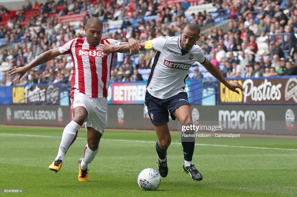 Bolton Wanderers' Darren Pratley during the pre-season friendly match between Bolton Wanderers and Stoke City at Macron Stadium on July 29, 2017 in Bolton, England.