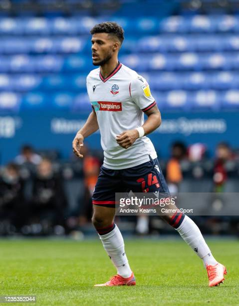 Bolton Wanderers' Elias Kachunga looks on during the Sky Bet League One match between Bolton Wanderers and Rotherham United at University of Bolton...