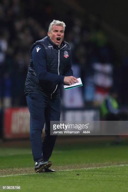 Bolton Wanderers First Team Goalkeeping Coach Lee Butler during the Sky Bet Championship match between Bolton Wanderers and Bristol City at Macron...