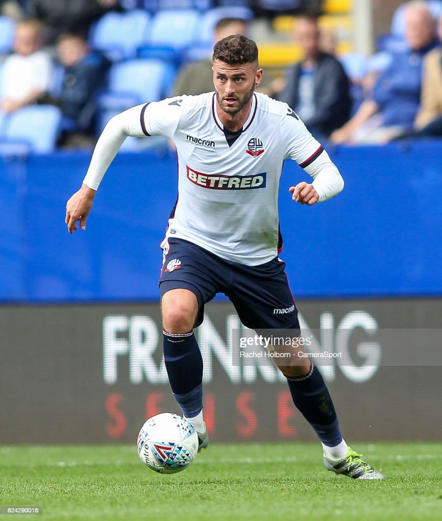 Bolton Wanderers' Gary Madine during the pre-season friendly match between Bolton Wanderers and Stoke City at Macron Stadium on July 29, 2017 in Bolton, England.