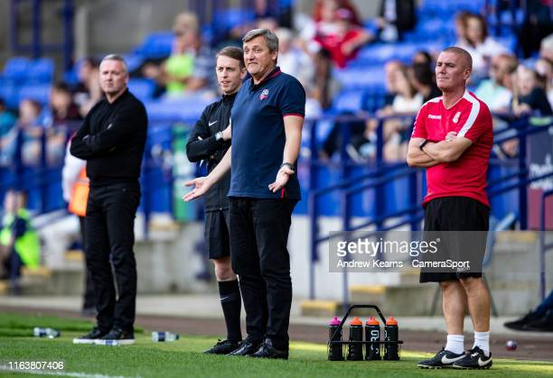 Bolton Wanderers' interim manager Jimmy Phillips during the Sky Bet League One match between Bolton Wanderers and Ipswich Town at University of...