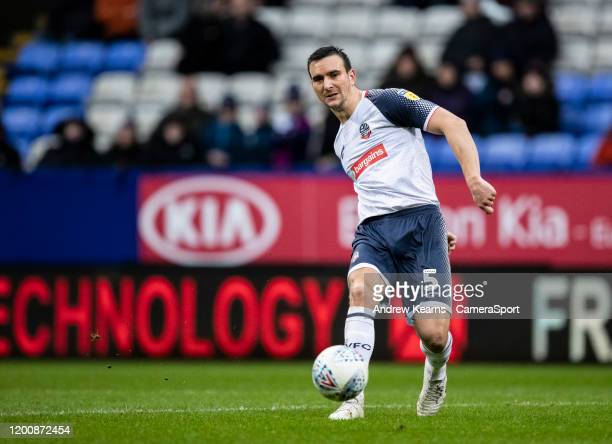 Bolton Wanderers' Jack Hobbs during the Sky Bet League One match between Bolton Wanderers and Wycombe Wanderers at University of Bolton Stadium on...