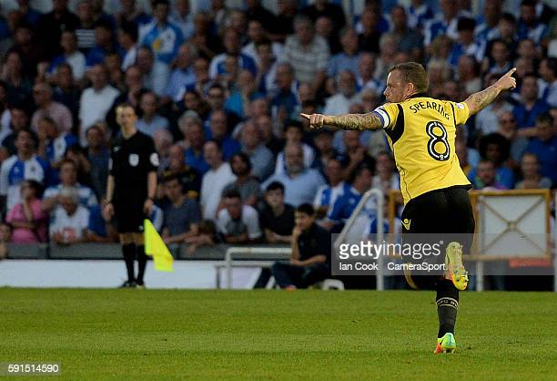 Bolton Wanderers' Jay Spearing celebrates scoring his sides second goal during the Sky Bet League One match between Bristol Rovers and Bolton...