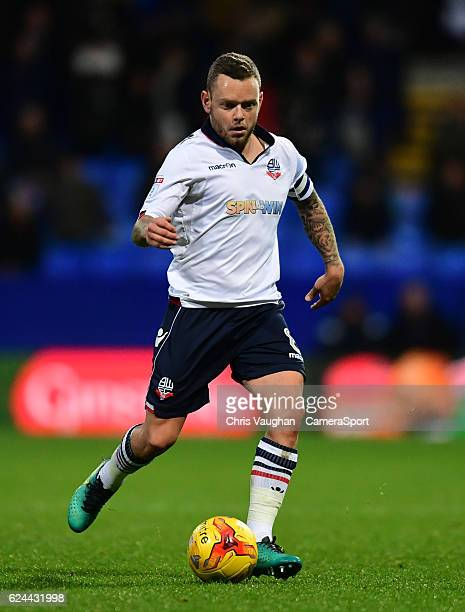 Bolton Wanderers' Jay Spearing during the Sky Bet League One match between Bolton Wanderers and Millwall at Macron Stadium on November 19 2016 in...