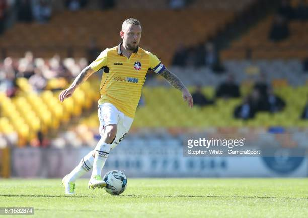 Bolton Wanderers' Jay Spearing during the Sky Bet League One match between Port Vale and Bolton Wanderers at Vale Park on April 22 2017 in Burslem...