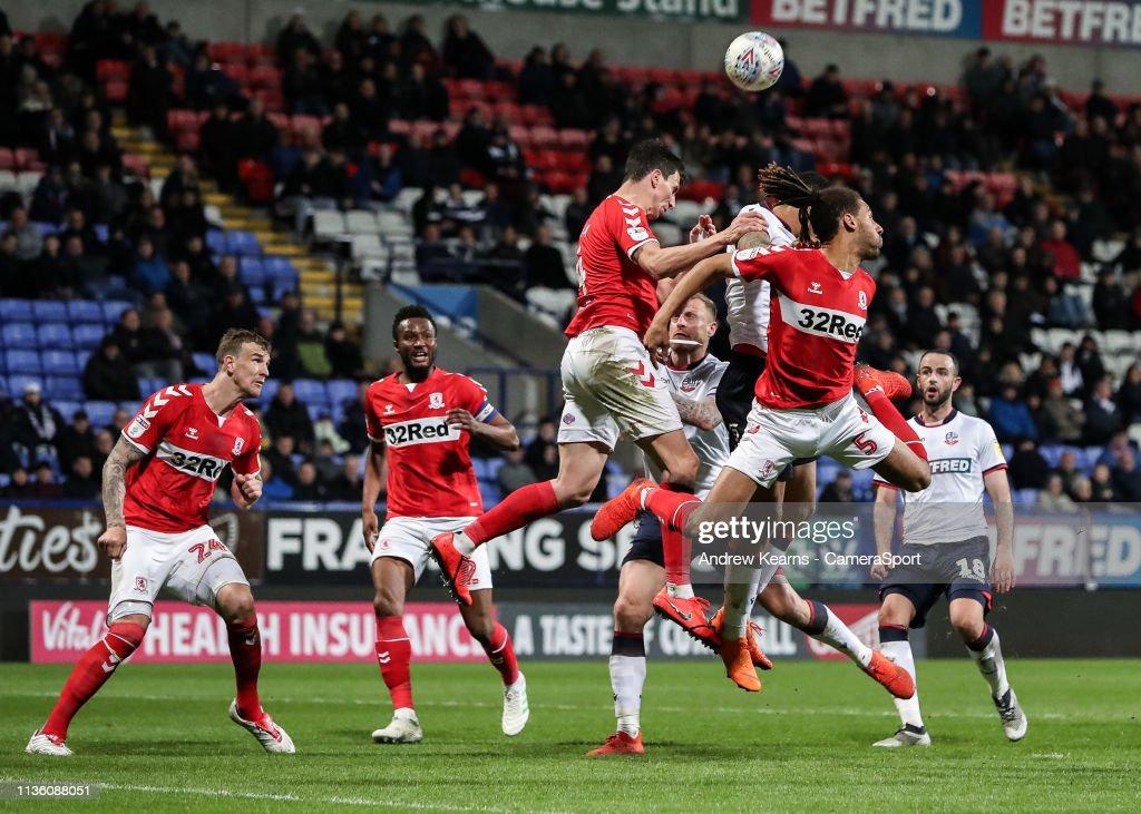 Bolton Wanderers v Middlesbrough - Sky Bet Championship : News Photo