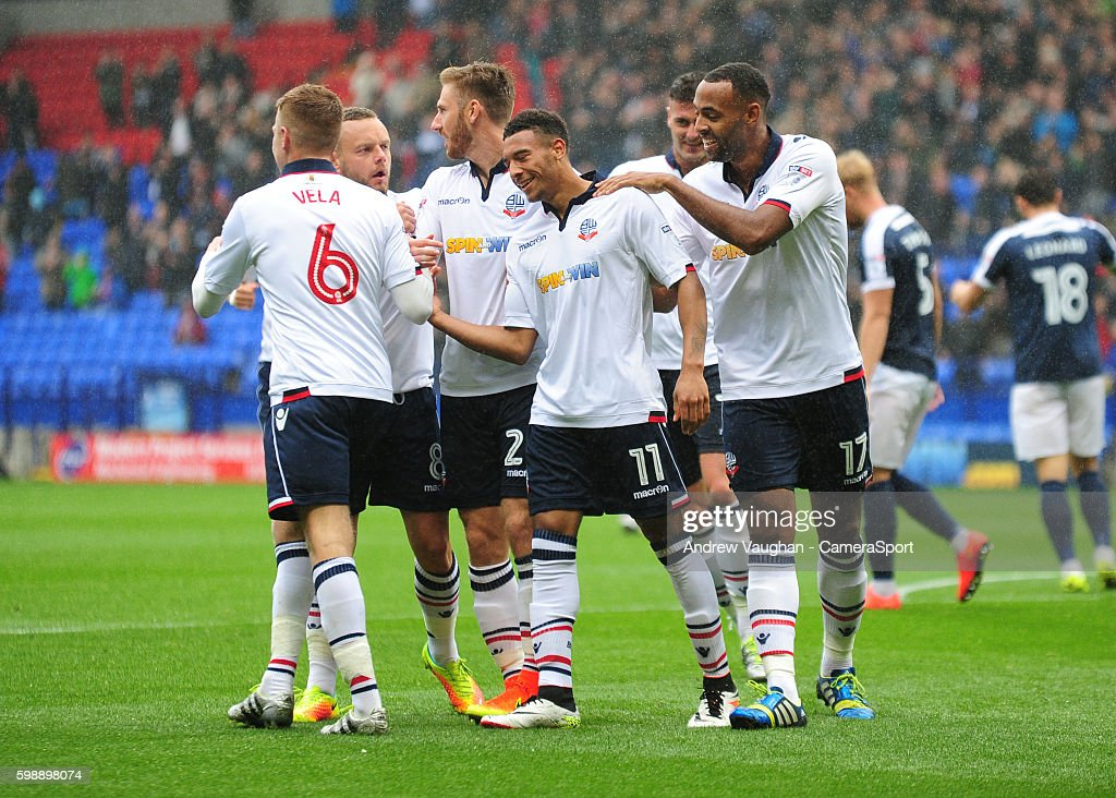 Bolton Wanderers' Keshi Anderson celebrates scoring his sides first goal during the Sky Bet League One match between Bolton Wanderers and Southend United at Macron Stadium on September 3, 2016 in Bolton, England.