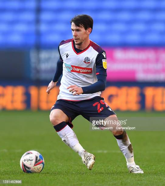 Bolton Wanderers' Kieran Lee during the Sky Bet League Two match between Bolton Wanderers and Barrow at University of Bolton Stadium on February 27,...