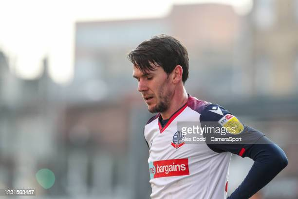 Bolton Wanderers' Kieran Lee during the Sky Bet League Two match between Bradford City and Bolton Wanderers at Northern Commercials Stadium on March...