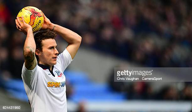 Bolton Wanderers' Lawrie Wilson during the Sky Bet League One match between Bolton Wanderers and Millwall at Macron Stadium on November 19 2016 in...