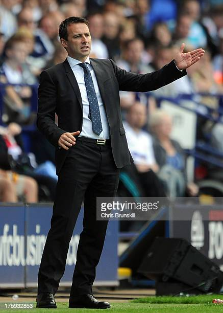 Bolton Wanderers manager Dougie Freedman gestures on the touchline during the Sky Bet Championship match between Bolton Wanderers and Reading at...