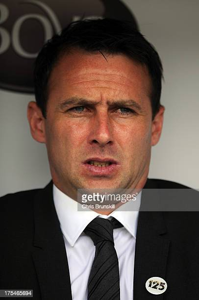Bolton Wanderers manager Dougie Freedman looks on during the Sky Bet Championship match between Burnley and Bolton Wanderers at Turf Moor on August...