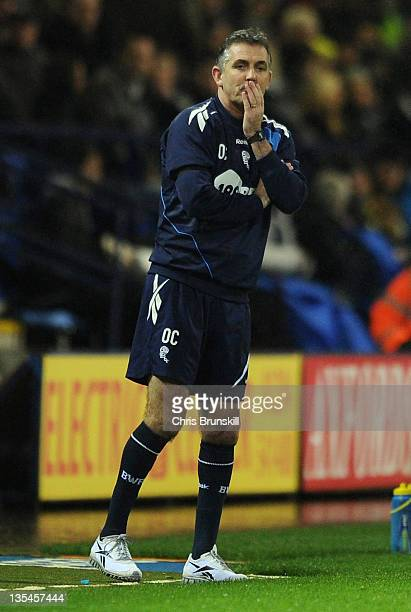 Bolton Wanderers manager Owen Coyle looks on during the Barclays Premier League match between Bolton Wanderers and Aston Villa at Reebok Stadium on...
