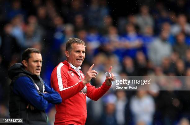 Bolton Wanderers Manager Phil Parkinson and Ipswich Town Manager Paul Hurst during the Sky Bet Championship match between Ipswich Town and Bolton...
