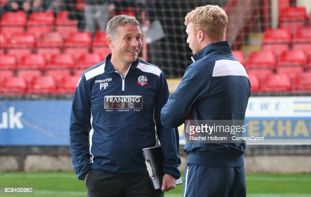 Bolton Wanderers Manager Phil Parkinson during the Carabao Cup First Round match between Crewe Alexandra and Bolton Wanderers at The Alexandra...