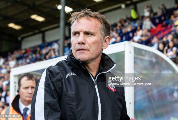 Bolton Wanderers' manager Phil Parkinson during the Sky Bet League One match between Tranmere Rovers and Bolton Wanderers at Prenton Park on August...