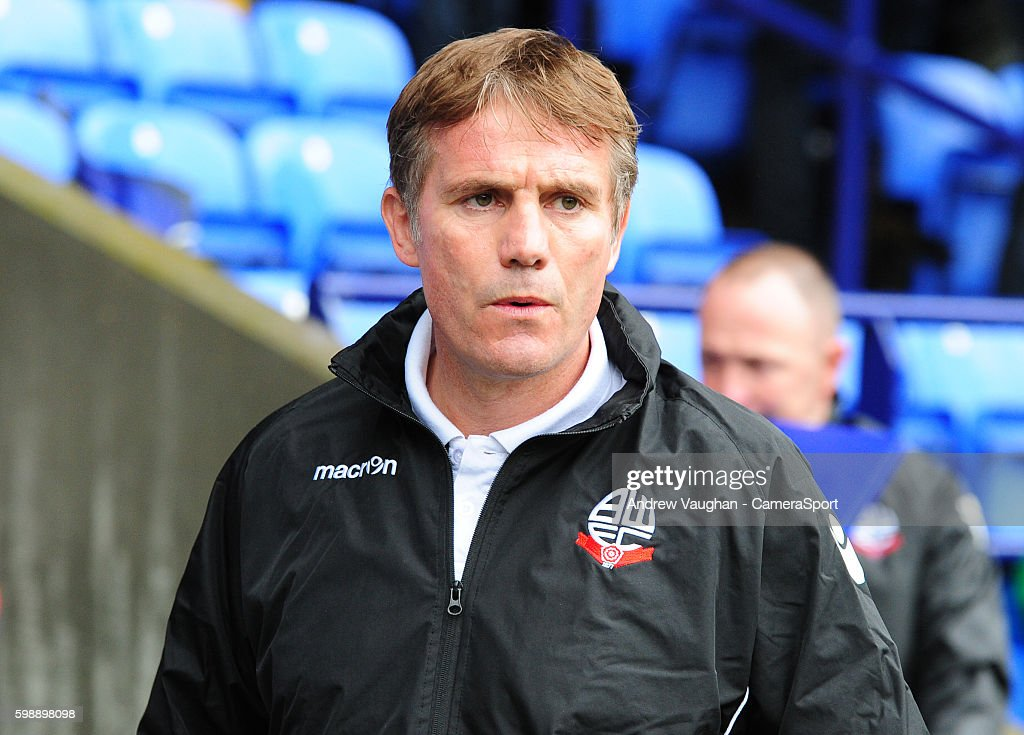 Bolton Wanderers manager Phil Parkinson during the Sky Bet League One match between Bolton Wanderers and Southend United at Macron Stadium on September 3, 2016 in Bolton, England.